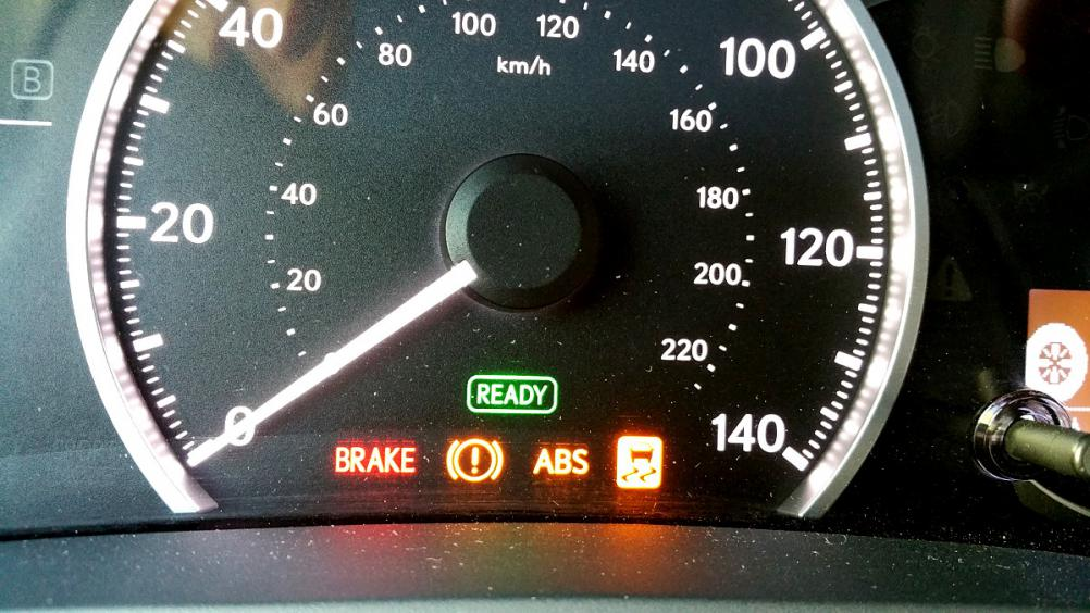 All Lights ON (Brake, VSC, Exclamation Mark, ABS)