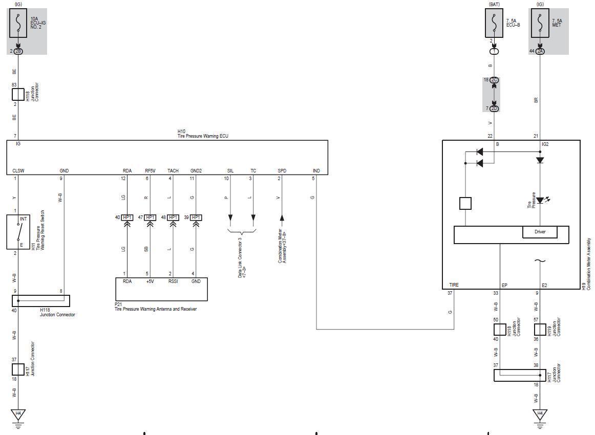 Tpms Wiring Diagram - Tire Pressure Monitoring