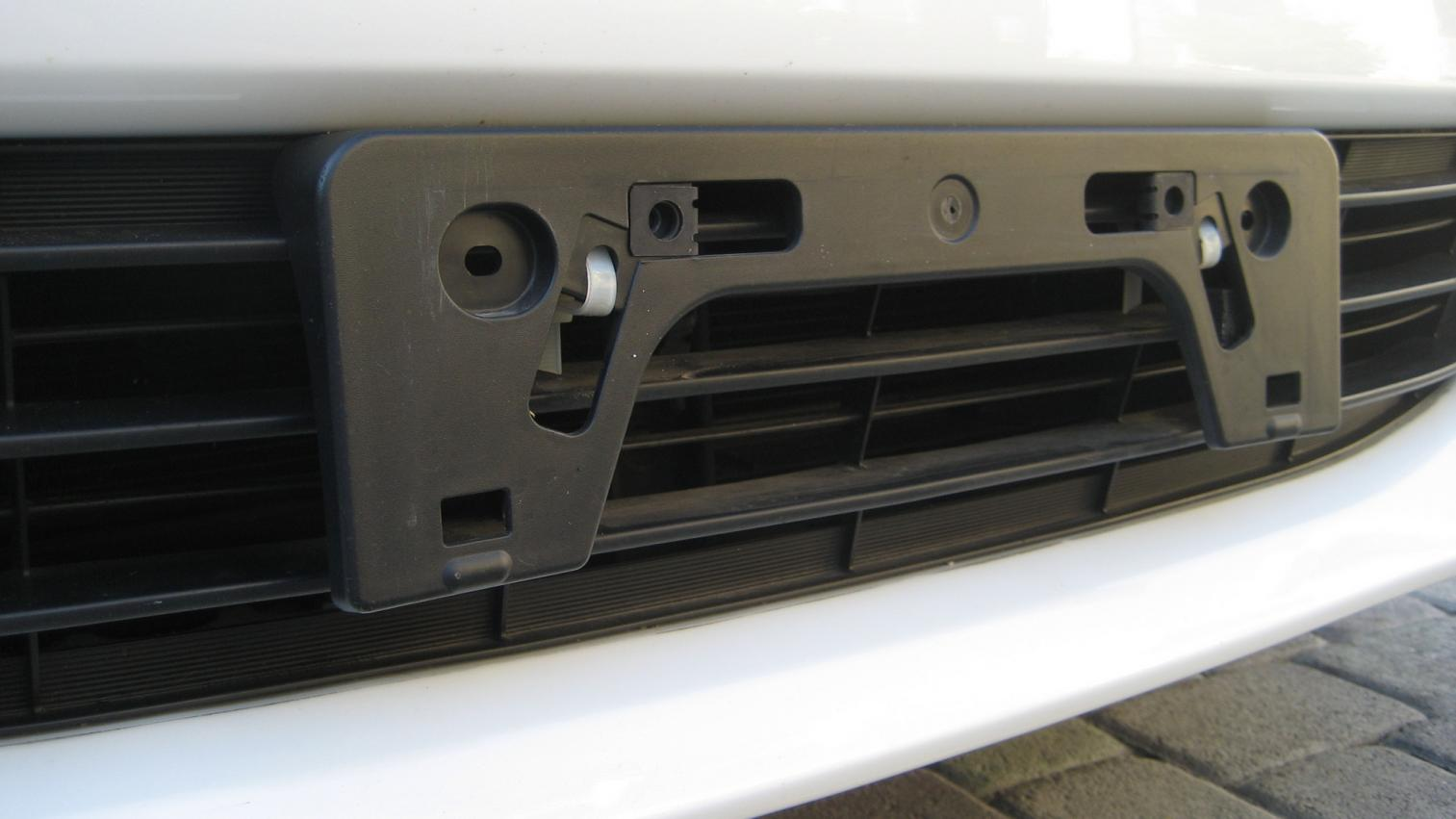How to install front license plate bracket