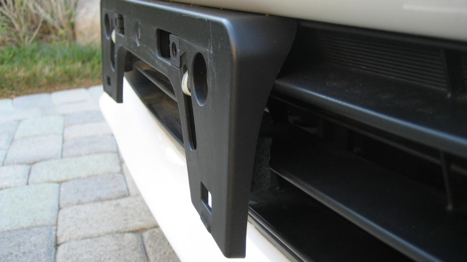 How to mount front license plate without....
