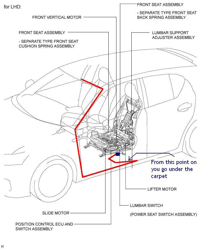 rear foot well lights   under seat lights lexus ct200h radio wiring diagram lexus ct200h radio wiring diagram